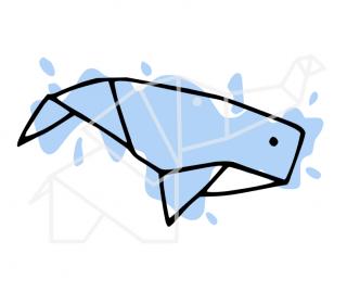 Grafischer Wal