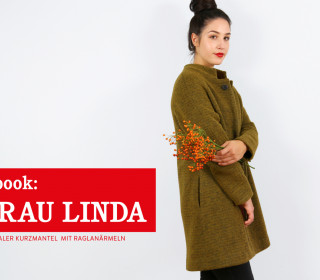 e-book FRAU LINDA  - Mantel mit Raglanärmeln XS-XXL