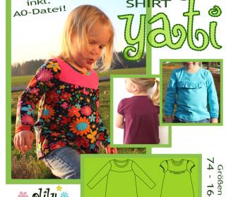 YATI Jerseyshirt 74-164 T-Shirt mit Passe und Puffärmeln - olilu