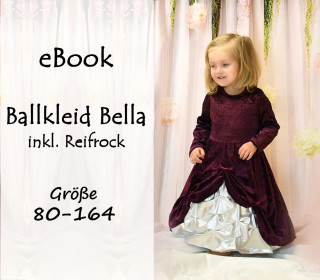 eBook Ballkleid Bella inkl Reifrock 80-164