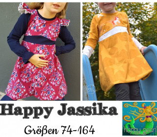 Ebook  - HAPPY JASSIKA  Ballontunika/-kleid Gr. 74 - 164  von Happy Pearl