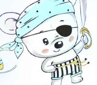 """Plotterdatei """"Little Pirate"""