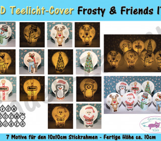 LED Teelicht-Cover Frosty & Friends 10x10 Rahmen