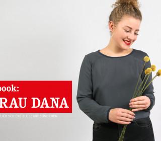 e-book - FRAU DANA sportlich schicke Bluse mit Bündchen XS-XXL