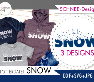 SNOW - Plotterdatei - Design von formenfroh - dxf+svg+jpg