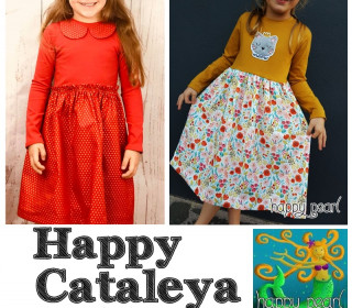 Ebook - HAPPY CATALEYA  Kleid Gr. 74-152 - von Happy Pearl