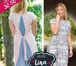 Ebook Kleid/Shirt Lina 32 – 50 mit optionalem Keileinsatz