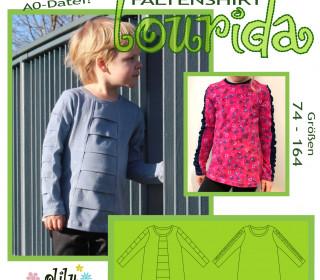 Lourida Faltenshirt 74-164 T-Shirt mit Falten und Teilungen - olilu