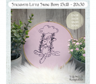 Digitale Stickdatei Little Swing Bunny  13x18 - 20x30 cm (5x7 - 8x12