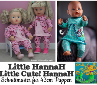 Ebook  - LITTLE HannaH Tuniken für 43cm Puppen von Happy Pearl