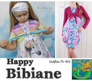 Ebook  - HAPPY BIBIANE  Ballontunika + Kleid  mit Bolero Gr. 74 - 164  von Happy Pearl