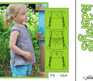 KARYS Sommerbluse 74-164 bequeme bezaubernde Bluse mit Gummizug - olilu