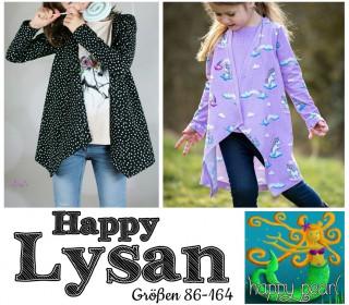 eBook  - HAPPY LYSAN Shirt mit Cardigan + Mantel  für Mädchen Gr. 86 - 164  von Happy Pearl