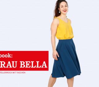 e-book - FRAU BELLA - Halbtellerrock mit Taschen XS-XXL