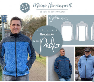 # 84 eBook - sein PEDRO - Fleecejacke - Größe XS-4XL