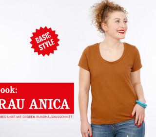 e-book - FRAU ANICA - Basicshirt mit zwei Ärmellängen XS-XXL