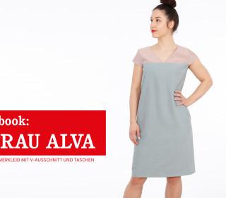 e-book - FRAU ALVA Sommerkleid mit V-Ausschnitt & Taschen XS-XXL