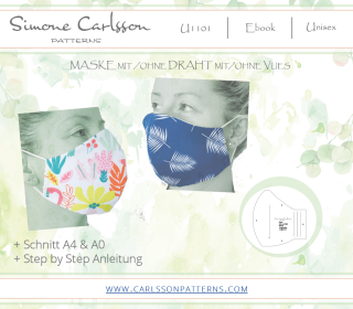 U1101 Maske Freebook - Carlsson Patterns - Herren/Damen/Kinder