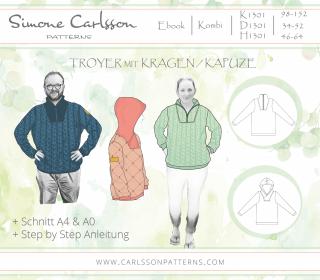 Kombi Ebook 1301 Troyer - Carlsson Patterns - Kinder - Damen -Herren