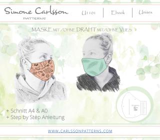 U1101 Maske Freebook - Carlsson Patterns - Herren/Damen/Kinder