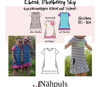 Ebook Kleid Blueberry Sky Gr. 80 - 164