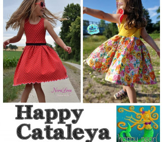 Ebook - HAPPY CATALEYA  Kleid Gr. 74-152 - von Happy Pearl