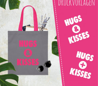 Freebie - Hugs And Kisses - Siebdruck Vorlagen