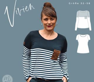 # 98 eBook - meine VIVIEN - Langarmshirt/T-Shirt - Größe 32-58