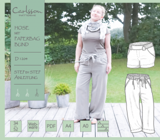 eBook - D1204 Paperbag Hose - Carlsson Patterns - Damen