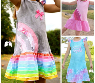 Sommerkleid RAINBOW DRESS Gr. 86 - 140