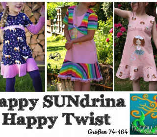 Ebook  - HAPPY SUNdrina & TWIST Tunika Kleid Bolero Gr. 74 - 164  von Happy Pearl