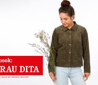 e-book FRAU DITA - kurze Jacke mit großen Taschen XS-XXL