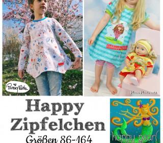 eBook -  Shirt und Tunika  HAPPY ZIPFELCHEN  Gr. 86 - 164 von Happy Pearl