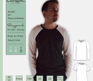 SKAGERRAK H1102/H2102 RaglanShirt - Carlsson Patterns - Herren