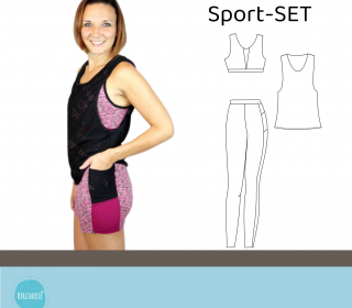 Sport-SET Leggings, Bustier, Top Gr. 34-50