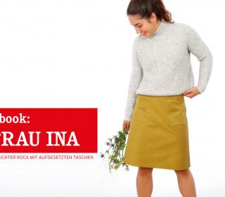 e-book FRAU INA  -Rock mit aufgesetzten Taschen XS-XXL