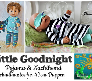 eBook  - LITTLE GOODNIGHT Pyjama + Nachthemd für 43cm Puppen von Happy Pearl