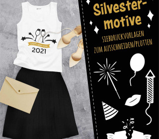 Freebie - Silvester - Party - Siebdruck Vorlagen