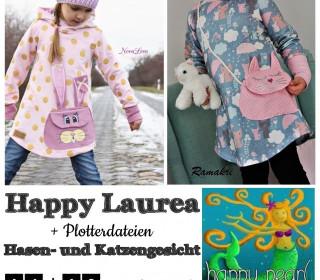 Ebook - Happy Laurea + Plotterdatei Katze + Hase Longhoodie + Kleid Gr. 86 - 164  von Happy Pearl