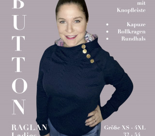 Damen Pullover mit Knopfleiste BUTTON RAGLAN Ladies Gr XS – 4XL (32-54)