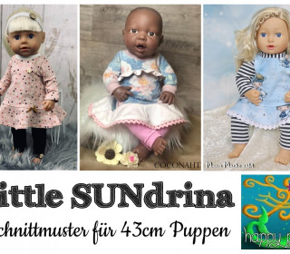 eBook  – LITTLE SUNdrina Kleid  für 43cm Puppen von Happy Pearl
