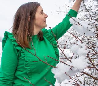 Pullover Engel im Schnee Gr. 32 - 54