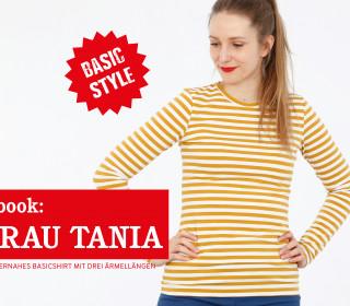 e-book FRAU TANIA – Basicshirt 3 Ärmellängen XS-XXL