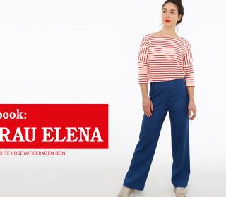 e-book FRAU ELENA - schlichte Hose mit geradem Bein XS-XXL