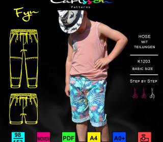 FYN K1203 Hose Kinder 98-152 Carlsson Patterns