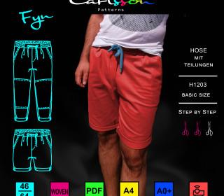 FYN H1203 Hose Herren Basic-Size 46-64 Carlsson Patterns