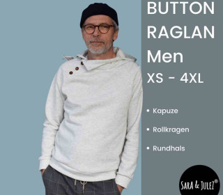 Knopfleisten Pullover BUTTON RAGLAN men XS-4XL