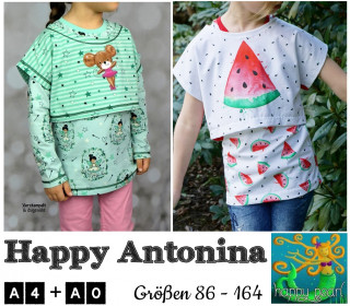 eBook HAPPY ANTONINA Crop Top + Shirts Gr 86-164 von Happy Pearl