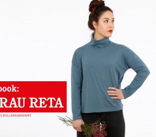 e-book FRAU RETA – Rollragenshirt mit schmalen Ärmeln XS-XXL