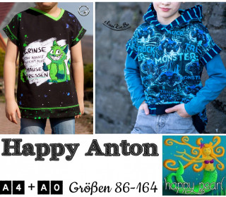 eBook HAPPY ANTON Shirts Gr 86-164 von Happy Pearl